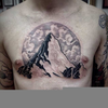 Lion Chest Tattoo Image