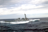 The Guided Missile Destroyer Uss Cole (ddg 67) Encounters Heavy Seas While Transiting Across The Atlantic. Image