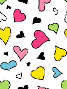 Live Crazy Hearts Colorful Image