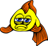 Golden Fish Comic Clip Art