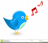 Blue Bird Singing Clipart Image
