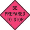 Be Prepared To Stop Sign Clip Art
