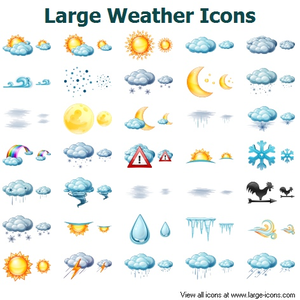 Large Weather Icons Image