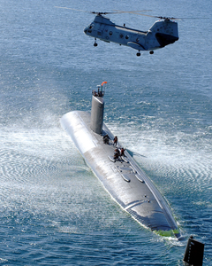 Submarine Personnel Transfer Exercise. Image