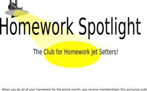 Homework Spotlight Club Clip Art