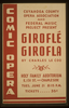 Cuyahoga County Opera Association And Federal Music Project Present  Giroflé Girofla  By Charles Le Coq Comic Opera. Image