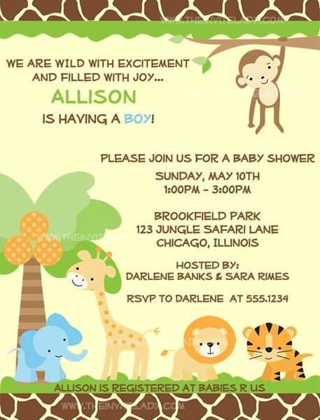 Baby Shower Jungle Theme Clipart Free Images At Clker Com Vector