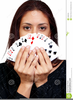 Women Playing Cards Clipart Image