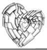 Heart Sketch Clipart Image