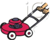 Teenager Mowing The Lawn Royalty Free Clipart Picture Image
