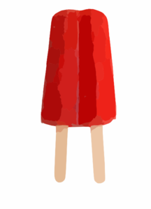 Red Double Popsicle Clip Art