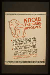 Know The Risks Involved Syphilis Is Acquired And Transmitted Largely By Youth : Youth Should Receive Special Attention : Consult A Reputable Physician. Image