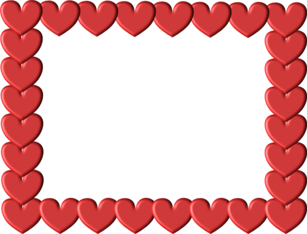 red heart frame free images at clkercom vector clip
