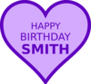 Smith Bday Purp Clip Art