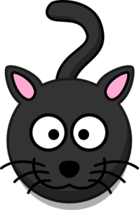 Black Cat Head And Shadow Clip Art