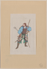 [samurai, Standing, Facing Left, Wearing Armor And Holding A Bow, Also Has Arrows And A Sword] Image