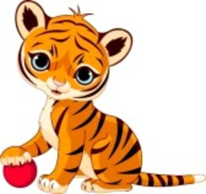 Cute Baby Tiger Cartoon Image
