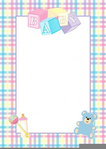 Baby Shower Invitation Border Clipart Free Images At Clker Com
