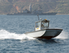A Naval Support Activity Patrol Boat Keeps Watch Over Harbor Activities In Souda Bay, Crete, Greece Image