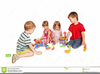 Children Playing Clipart Black And White Image