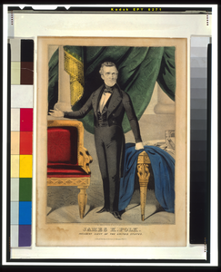 James K. Polk--president Elect Of The United States  / Lith. & Pub. By N. Currier. Image