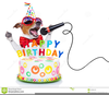 Dog Birthday Cake Clipart Image