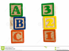 Baby Abc Block Clipart Image