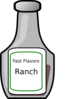 Ranch Dressing Bottle Clip Art