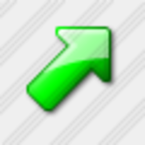 Icon Arrow Up Right Green 3 Image
