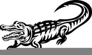 Free Alligator Clipart Black And White Image
