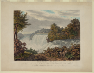 Niagara Falls. To Thomas Dixon Esq. This View Of The American Fall Taken From Goat Island  / Painted & Engd. By W.j. Bennett ; Printed By J. Neale. Image