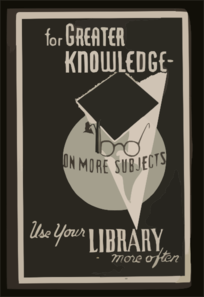 For Greater Knowledge On More Subjects Use Your Library More Often Clip Art