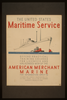The United States Maritime Service Offers Practical Training Courses For Licensed And Unlicensed Men Of The American Merchant Marine  / Halls. Image