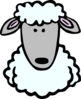 Cartoon Sheep Head Clip Art