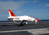 A T-45c Goshawk Assigned To Training Air Wing Two Maneuvers The Ship S Flight Deck Following And Arrested Landing Aboard Uss Harry S. Truman (cvn 75). Image