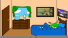 Picture Of A Bedroom Clipart Image