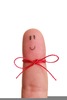 Finger With String Clipart Image