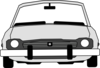 Car Front View With Extended Windshield Clip Art