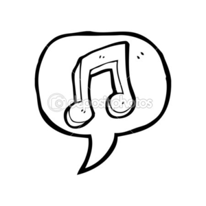 Depositphotos Musical Note In Speech Bubble Image