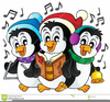 Singing Winter Animals Clipart Image