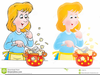 Black Woman Cooking Clipart Image