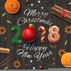 Merry Christmas And Happy New Year Clipart Image