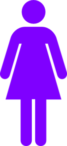 Purple Female Restroom Symbol Clip Art