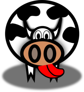 Licking Cow Clip Art