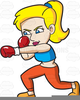 Female Martial Arts Clipart Image