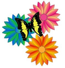 Flowers And Butterflies Clipart Image