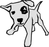 Dog 03 Drawn With Straight Lines Clip Art