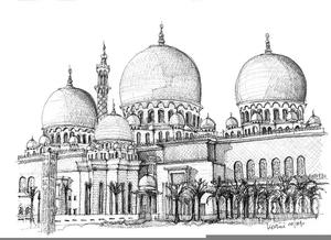 Clipart Masjid Hitam Putih Free Images At Clker Com Vector