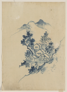 [buildings Nestled Among Trees In A Mountain Valley] Image