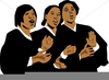 African American Choir Singing Clipart Image